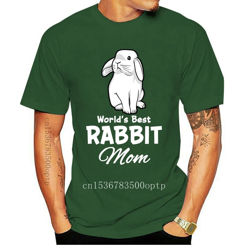 New Worlds Best Rabbit Mom Bunny Mother T Shirt Short Sleeve Knitted Comical Summer Style Kawaii Anti-Wrinkle Over Size S-5XL Un