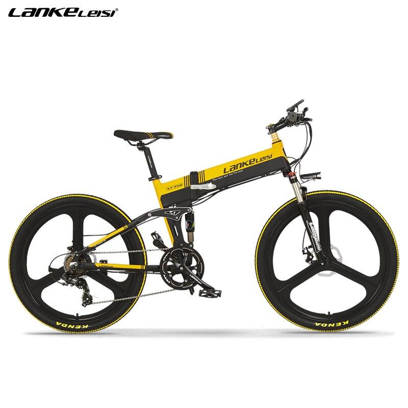 Bicicleta eléctrica de montaña de 26 pulgadas con suspensión completa de calidad europea