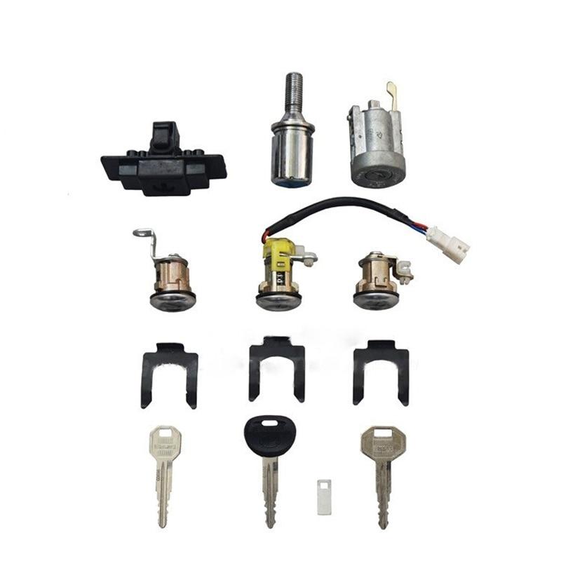 car Ignition+Glove box+Spare tire+Door Lock Cylinder & Key Set for Mitsubishi Pajero montero MK2 2nd V32 4G54
