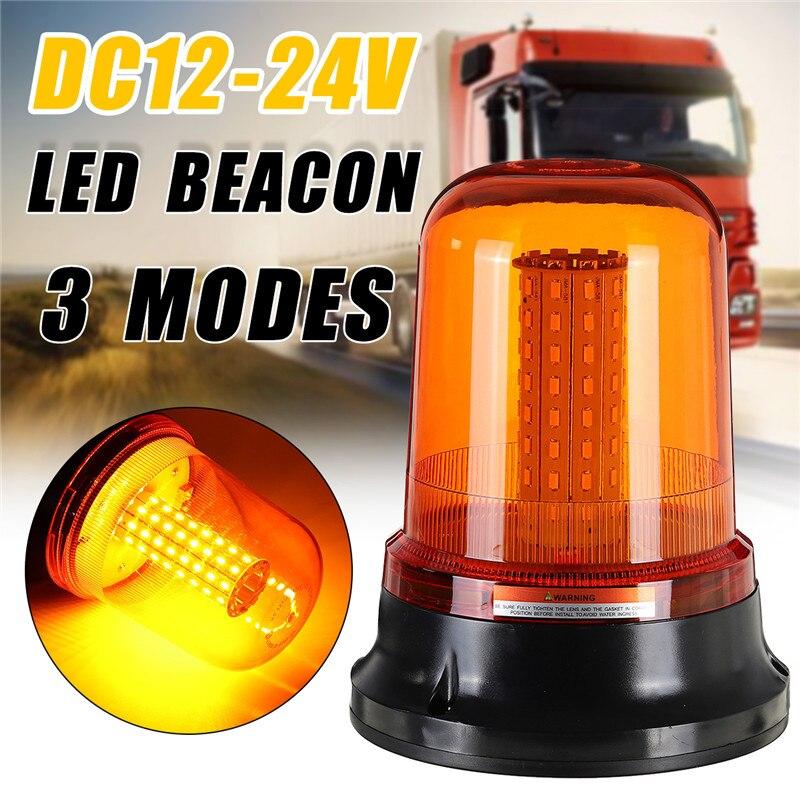 1 Uds 80LED 5730 coche LED de ámbar intermitente faro Flexible luz de advertencia de tres modos de 12V/24V para camión Tractor SUV barco