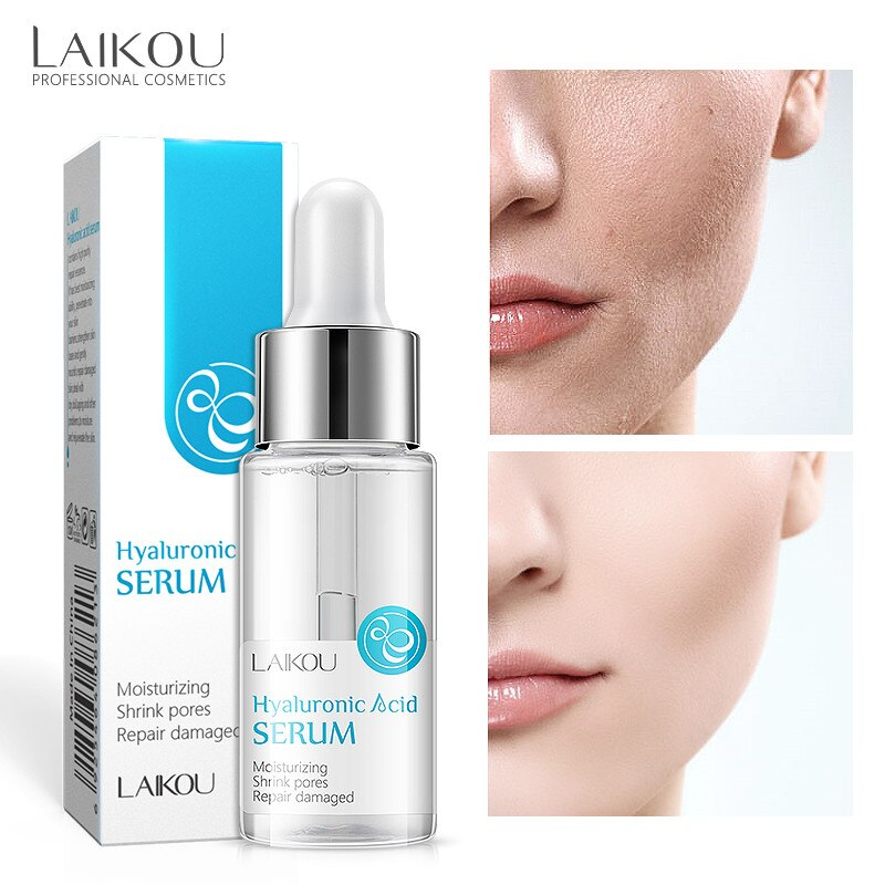 LAIKOU Face Serum Hyaluronic Acid Facial Essence Moisturizing Brightening Whitening Acne Oil Control Smooth Skin Care 17ml laikou hyaluronic acid face serum moisturizing shrink pores whitening brightening tighten facial essence liquidskin care 15ml
