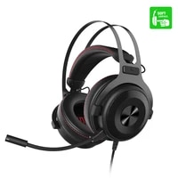 ajazz the one over ear headphone 7 1 surrond sound gaming headset with soft ear pad multifunction in line control 53mm driver