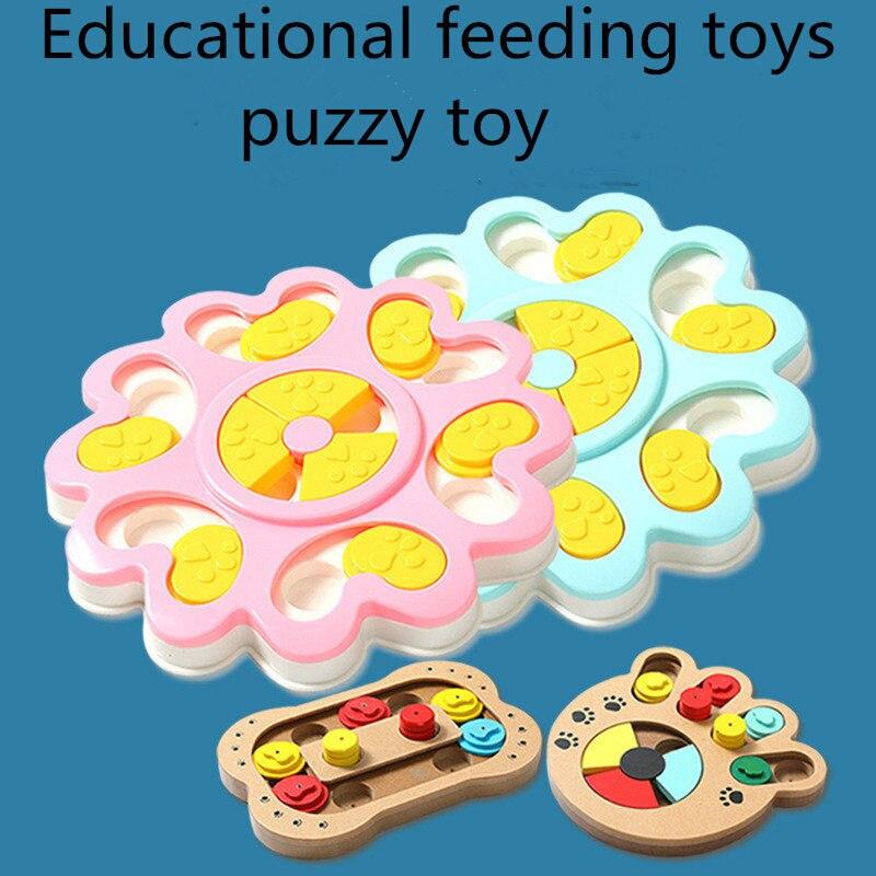 Productos para mascotas, tazón de alimentación para perros, juego para gatos, juguetes para perros, dispensador de comida divertida para hacer ejercicio, ABS de madera para gatos, suministros de juguetes para perros