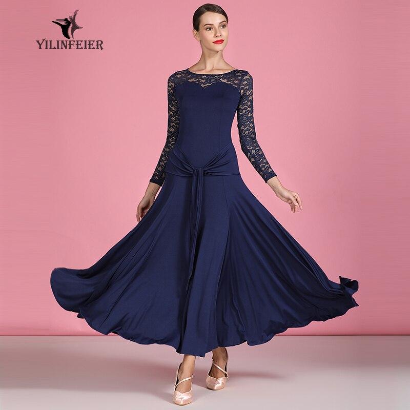 Nuevo vestido de baile de salón de baile de competición vestidos de baile de salón vestidos de Baile Estándar mujeres vestido de salón S9064