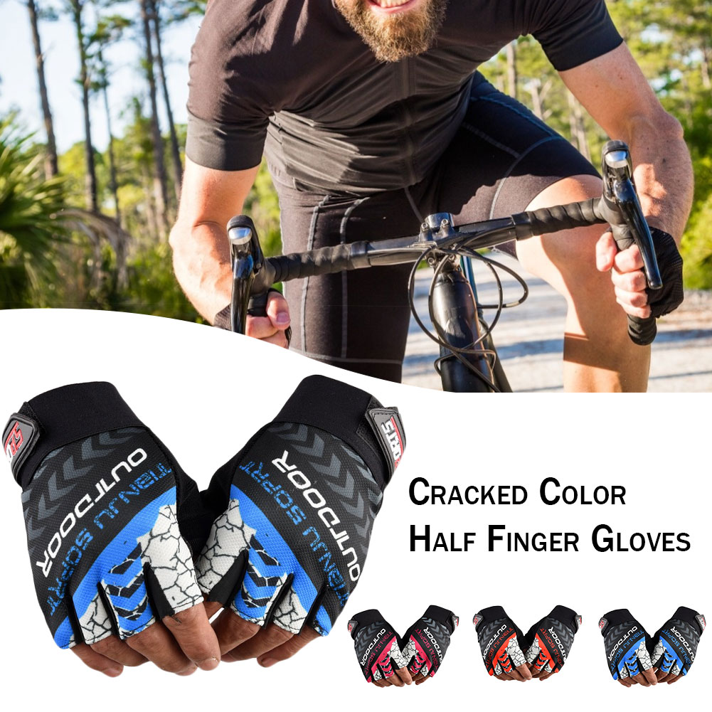 Half Finger Cycling Gloves Shock-Absorbing Anti-Slip Breathable Outdoor Sports Gloves for Men Women