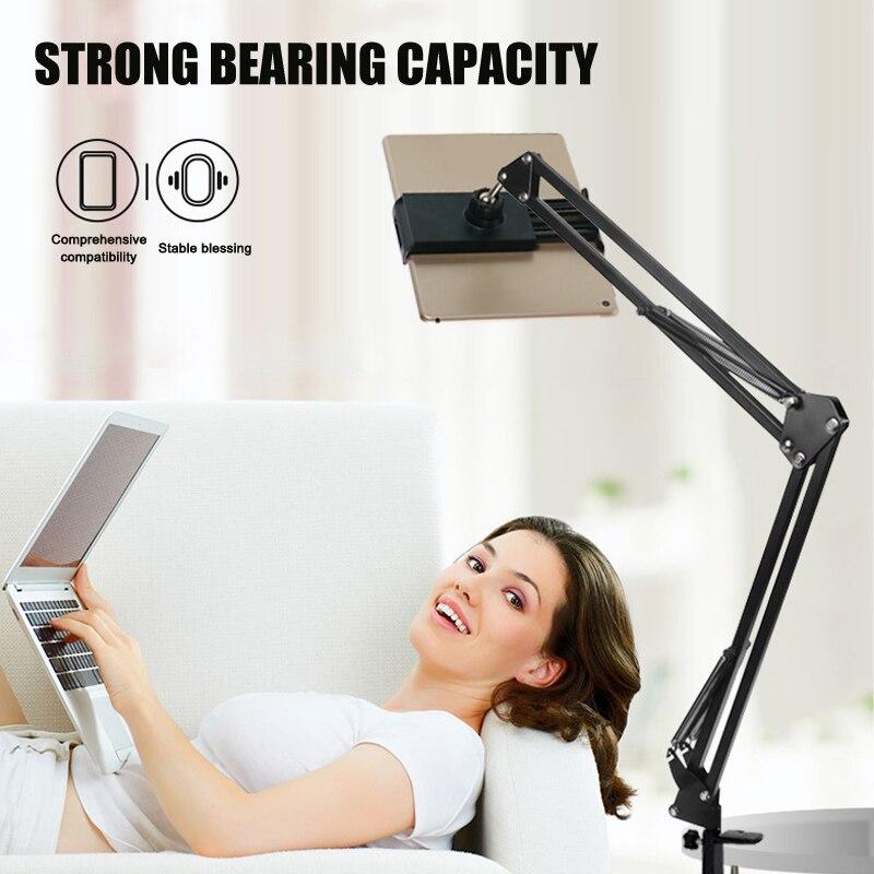 Soporte ajustable para tableta, soporte para teléfono, soporte duradero para tabletas domésticas, teléfonos móviles 360, brazos largos giratorios flexibles