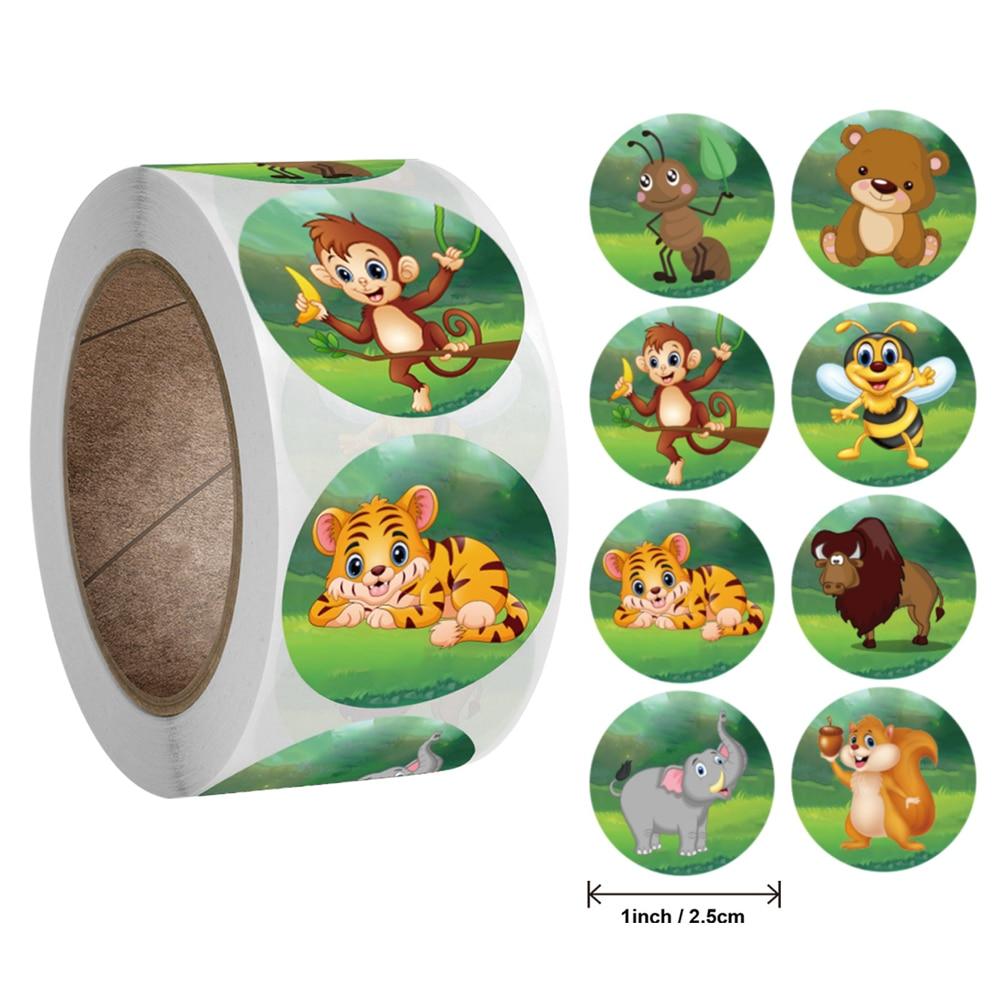 50-500-uds-pegatinas-de-animales-de-zoologico-de-dibujos-animados-para-ninos-pegatina-de-juguetes-clasicos-para-profesores-de-escuela-etiqueta-de-recompensa-1-pulgada-patron-tigre