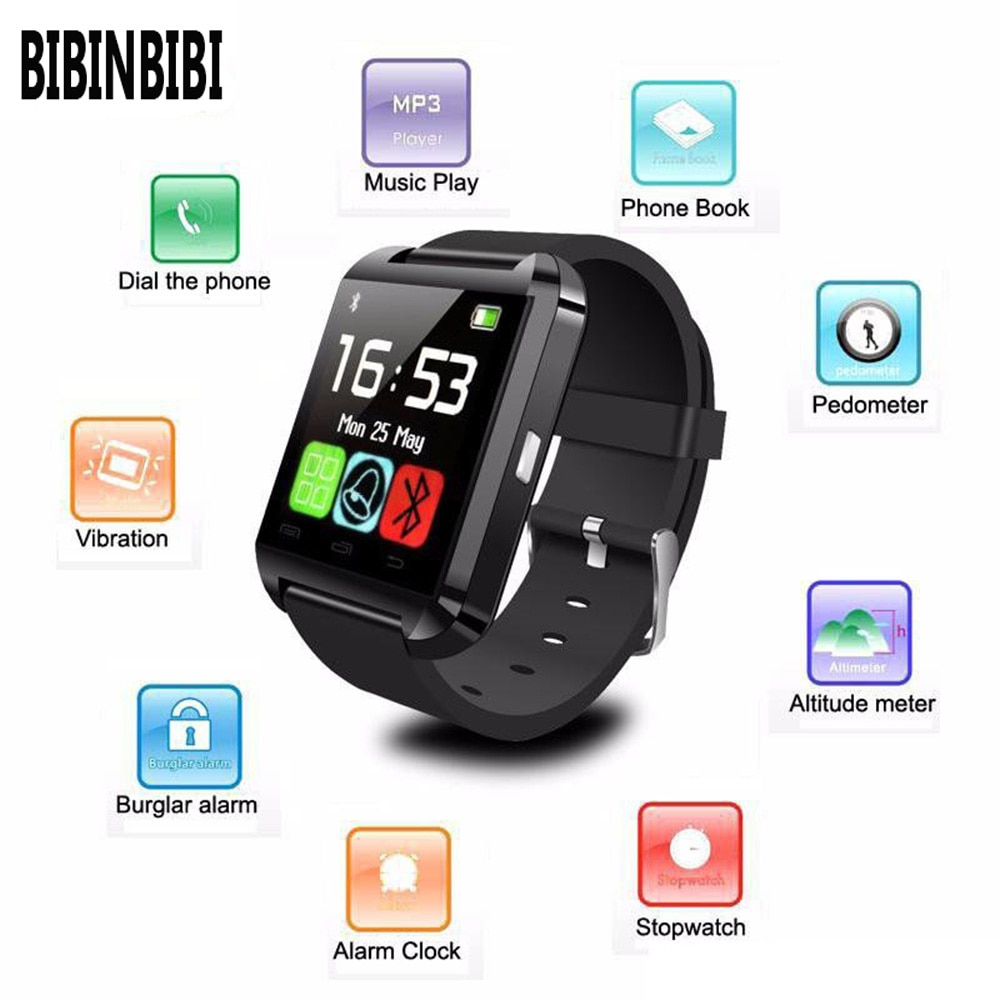 Reloj Inteligente Portable Smart Watch U8 Smartwatch Bluetooth Answer Dial Phone Passometer Alarm for Android IOS Dropshipping