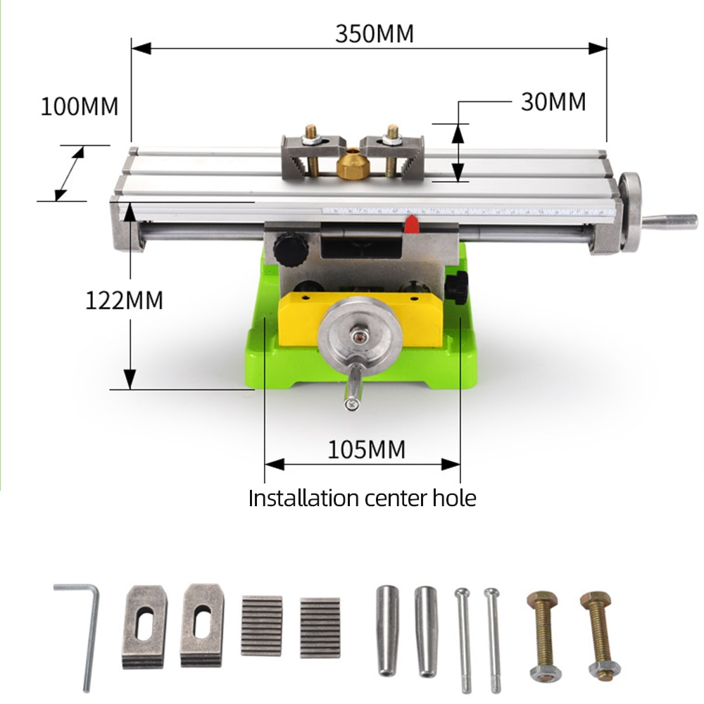 ALLSOME MINIQ BG6350 Multifunction Drill Vise Fixture Working Table Mini Precision Milling Machine Worktable HT2747 enlarge
