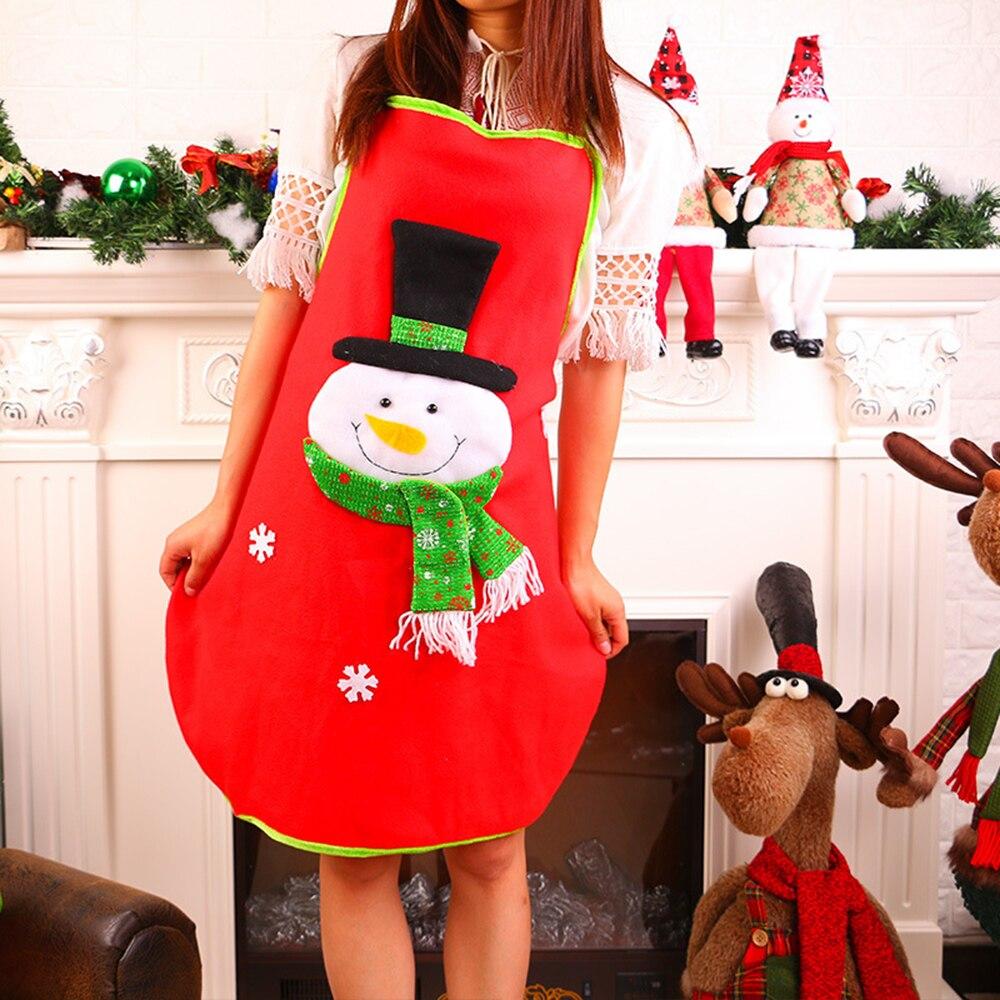 1 шт. рождественские украшения Рождественский нетканый фартук с аппликацией день