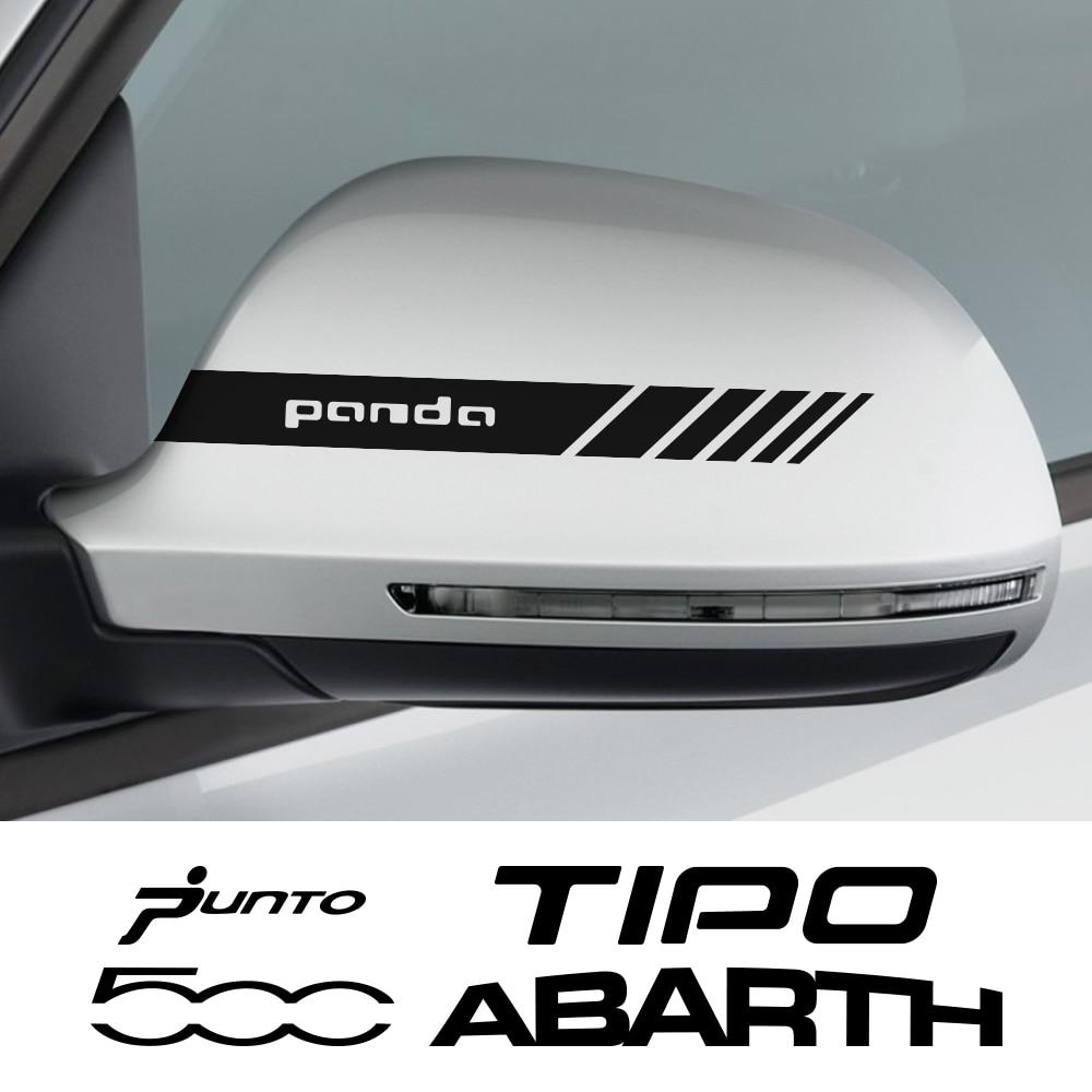 2 uds pegatinas de espejo retrovisor de coche para Fiat 500 ABARTH...