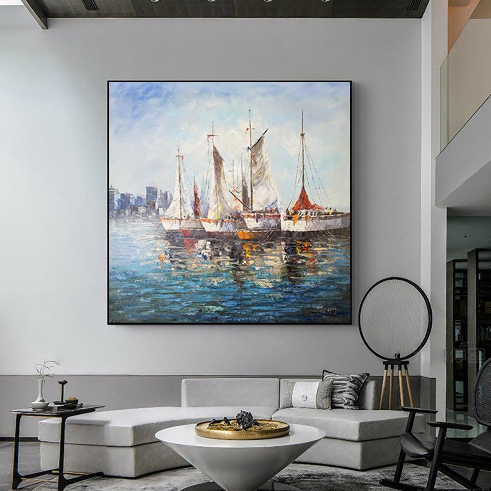 Абстрактная живопись на холсте, современные настенные картины, большие настенные картины ручной работы, картина маслом для гостиной, декор...