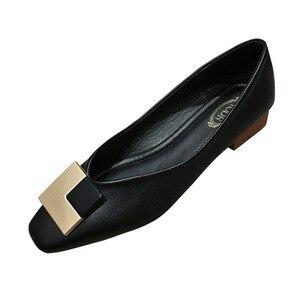 2020 Spring New Model Square Head Chunky Heel Shoes Women's Soft Bottom Comfortable Grandma Shoes