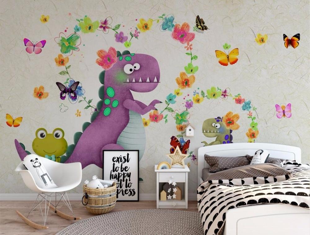 CJSIR Custom Wallpaper HD 3D Cubes As Dinosaur Children Room Background Wall Living Room Bedroom Background 3d Wallpaper Decor