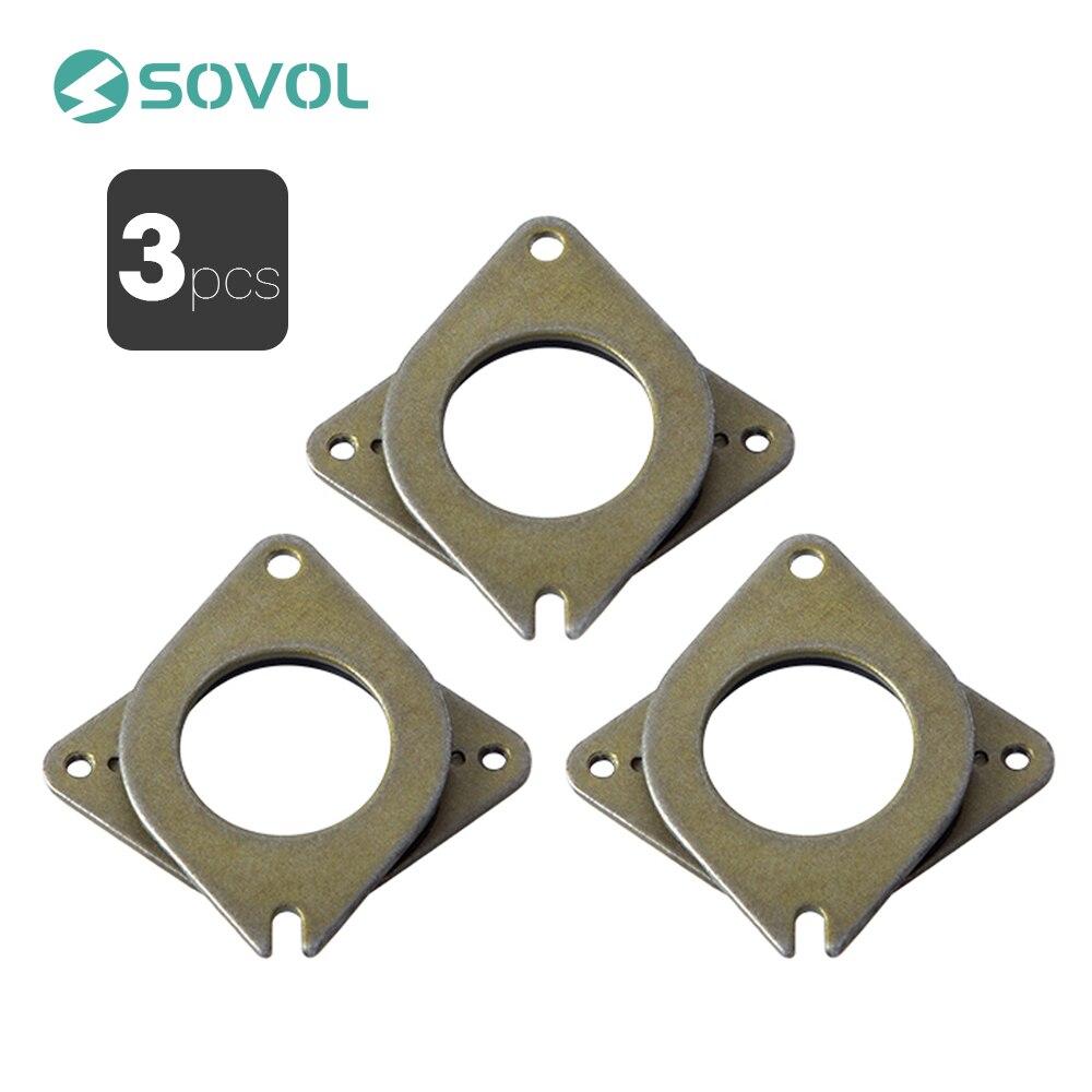 3 шт. NEMA 17 шаговые стальные и резиновые вибрационные демпферы с винтом M3 для SV01 CR-10 10S Ender 3d принтер Снижение Шума CNC