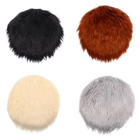 1pcs solid color warm wool round cushion stool pad thickening dining chair cushion anti slip seat mat chair mat pad