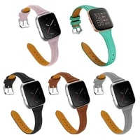 genuine leather bands compatible with fitbit versaversa 2 watch fitness strap replacement for fitbit versa seversa lite smartw