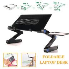 Supporto da scrivania per Laptop regolabile Lapdesk ergonomico in alluminio portatile per TV letto divano PC Notebook tavolo da tavolo supporto da scrivania con tappetino per Mouse