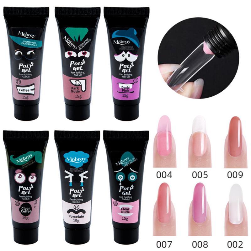 Mobray nail extension gel 15ml polygel quick poly gel nail yinikiz polygel waterproof poly gel gel polish nails nail gel kit New