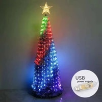 hy colorful led decorative lights new years products christmas tree decorations party supplies acrylic xmas leds gift