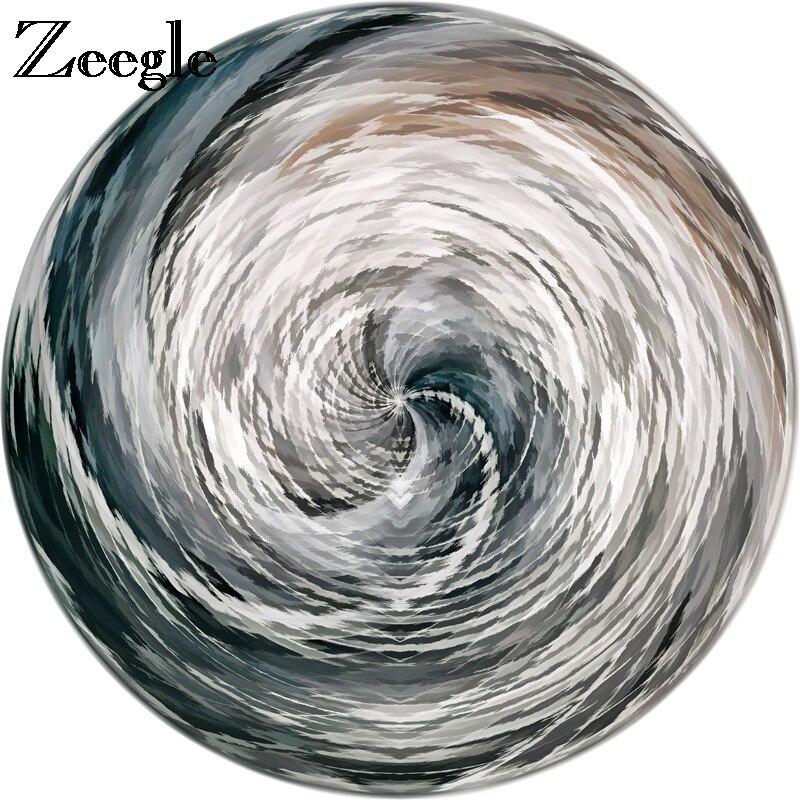 سجادة Zeegle مستديرة لغرفة المعيشة ، سجادة لعب كرتونية للأطفال ، سجادة غير قابلة للانزلاق للأطفال ، سجادة أرضية لغرفة النوم