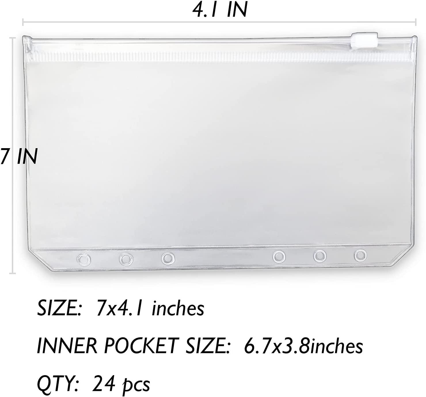 Папка для бумаг формата A6, 24 шт., папка для бумаг формата A6, подходит для 6 переплетчиков, папка для бумаг формата A6, конверт для наличных, офис...