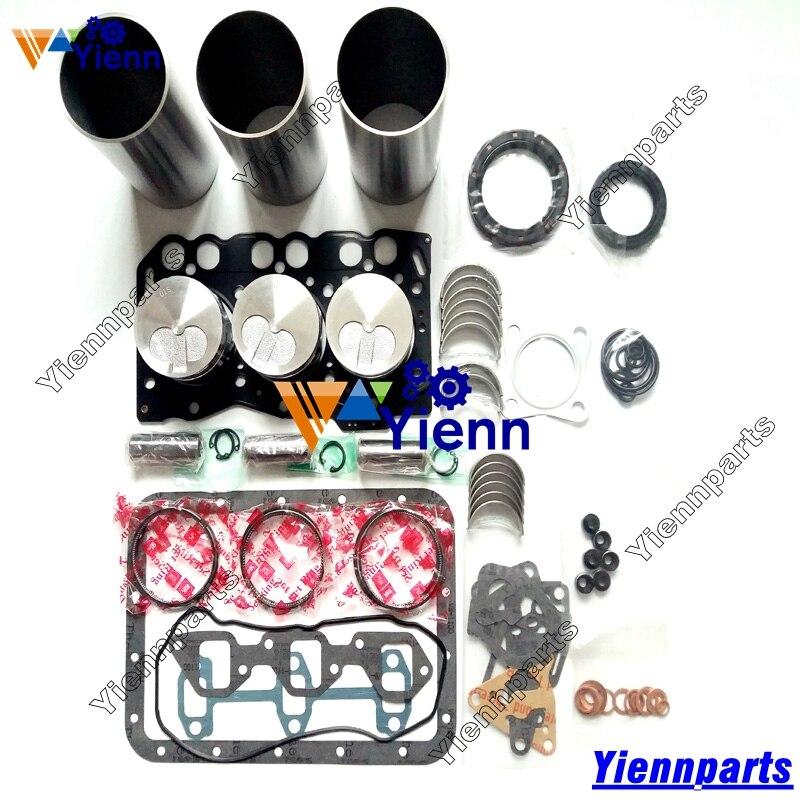 For Yanmar 3TNE68 Overhaul Rebuild Kit Piston Ring Cyliner Liner Gasket kit Bearing For Yanmar 3TNE68-U 3TNE68-AC Engine Part