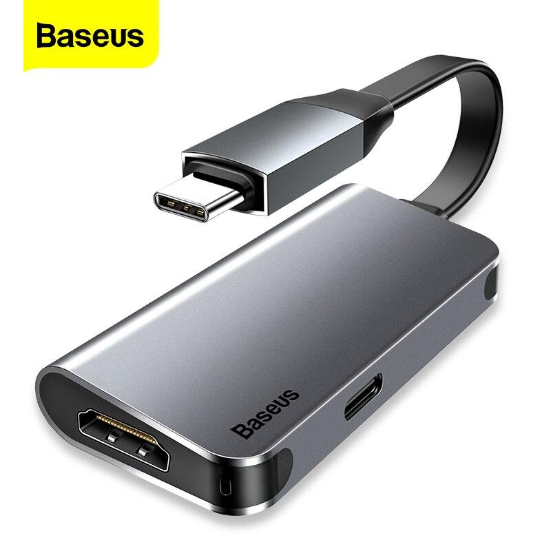 Baseus USB C HUB to HDMI Type C PD Thunderbolt 3 Power Adapter USB-C HUB For Macbook Pro Air Samsung S10 Type-c HUB HAB Splitter