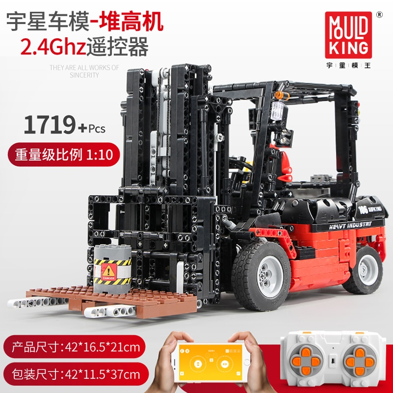 City Engineering Vehicles RC Forklift Truck Building Blocks Compatible Legoed Technic Crane Bricks Educational Toys Model
