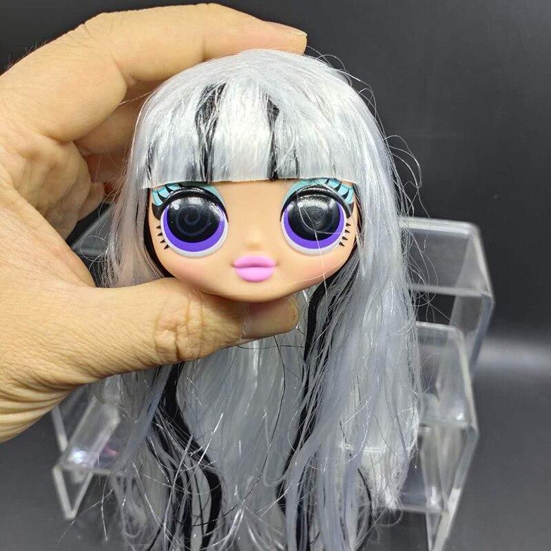 Cabeça de boneca surpresa lol, luzes omg groovy, bebê, moda, boneca, peças do corpo, menina, diy, brinquedos, presente de aniversário para crianças