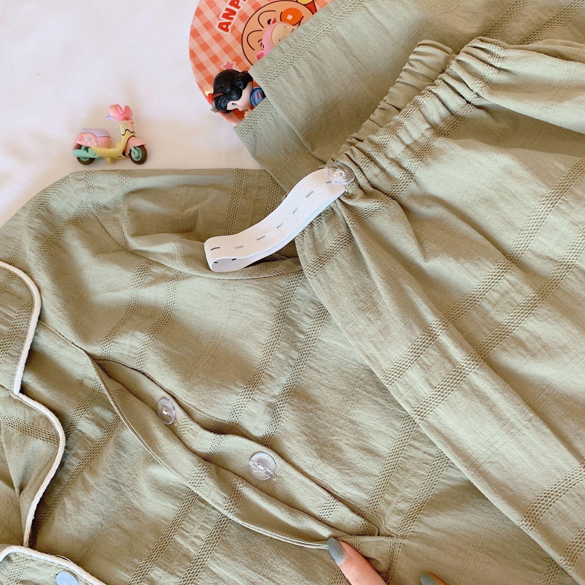 Fdfklak Women's Nightie For Nursing Pajamas Maternity Clothes Set Pregnant Pyjama Spring Autumn Long Sleeve Pregnancy Pijamas enlarge