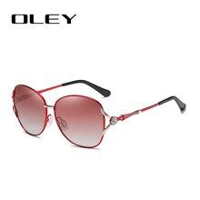 OLEY Mode Frauen Polarisierte Sonnenbrille Frauen Schmetterling Diamant Klassische Sonnenbrille HD objektiv UV400 brille