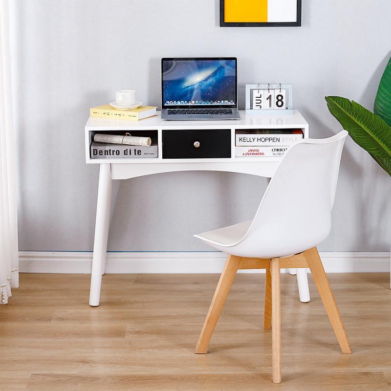 جديد حديث بسيط 3 شبكة خشبية الساق مكتب كمبيوتر مكتب تركيب مجاني مكتب للحاسوب شخصي مكتب طاولة كتابة توفير مساحة الأثاث