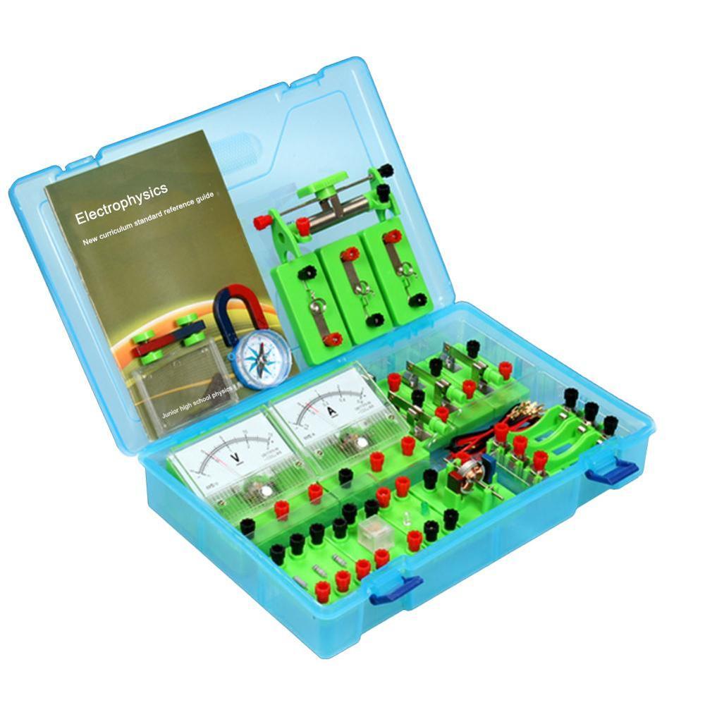 Aprenda o jogo básico da experiência do magnetismo do circuito da eletricidade dos laboratórios dos experimentos da física da eletricidade para o ensino médio      -