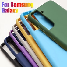 Liquid Silicone Case For Samsung A51 A52 A71 A72 A50S A32 A21S A12 S8 S9 S10 S20 Fe S21 Plus Note 20