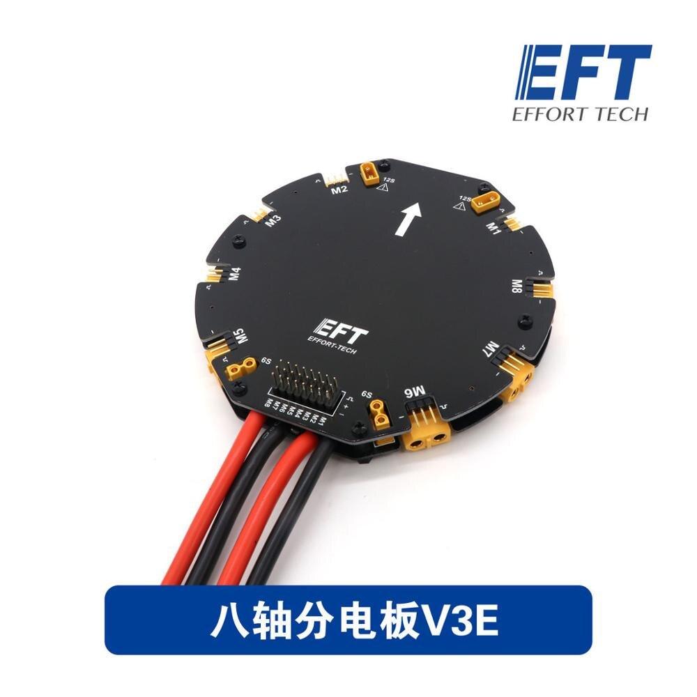 EFT módulo de gestión de distribución de energía de 8 ejes/6 ejes, aparato de protección de plantas, V3E/V3 para Dron de protección de plantas de agricultura