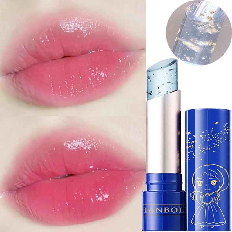 Change Lipstick Gold Foil Shinny Lip Balm Long Lasting Moisturizing Temperature Change Lipstick Base Cream Lipstick Lip Make Up недорого