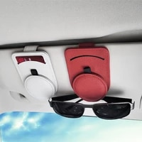 car glasses holder multifunctional car sunglasses holder synthetic resin leather document holder sun visor card storage clip