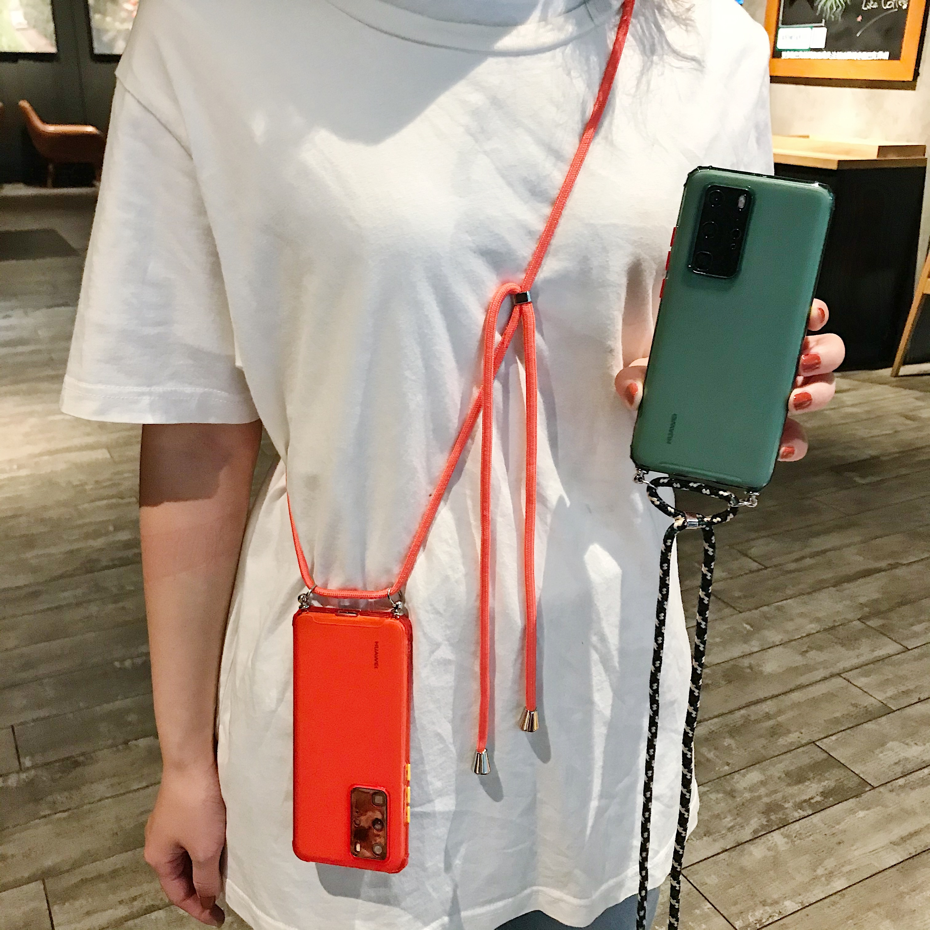 Crossbody Halskette Lanyard Fall Für Huawei P20 P30 Pro P40 Lite E Mate 20 30 Y7P Honor 10 Lite 20 pro 9C Y6 Y7 Y9 P Smart 2019