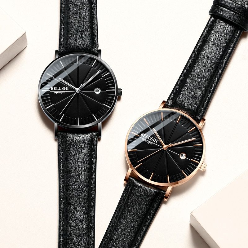Men's Watches Waterproof Luminous Quartz Watch Leather Student Casual Watch 2021Top Brand business Wrist Watch Relogio Masculino