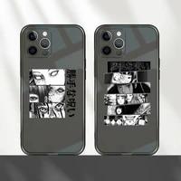 horror comic junji ito tomie tees phone case transparent for iphone 7 8 11 12 se 2020 mini pro x xs xr max plus