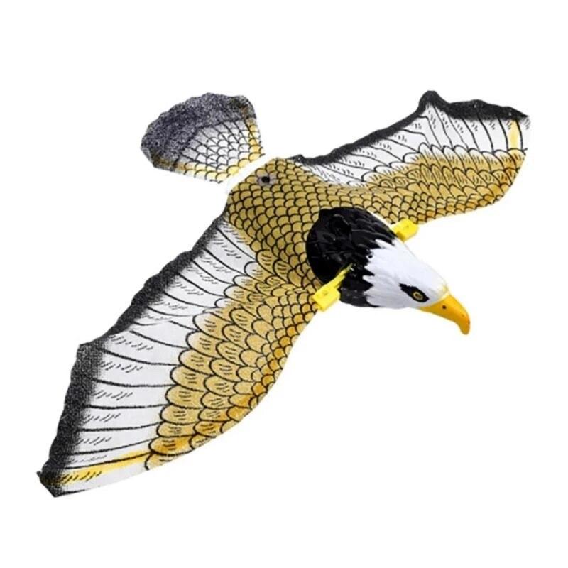 Креативный Репеллент для птиц, подвесной Орел, летающая птица, садовое украшение, 2 батарейки АА, портативная летающая птица, подвесной Орел