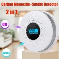 WiFi Smart Smoke Detector Sensor Wireless Fire Smoke Sensor Temperature Tuya App Control Message Push Home Security Alarm System