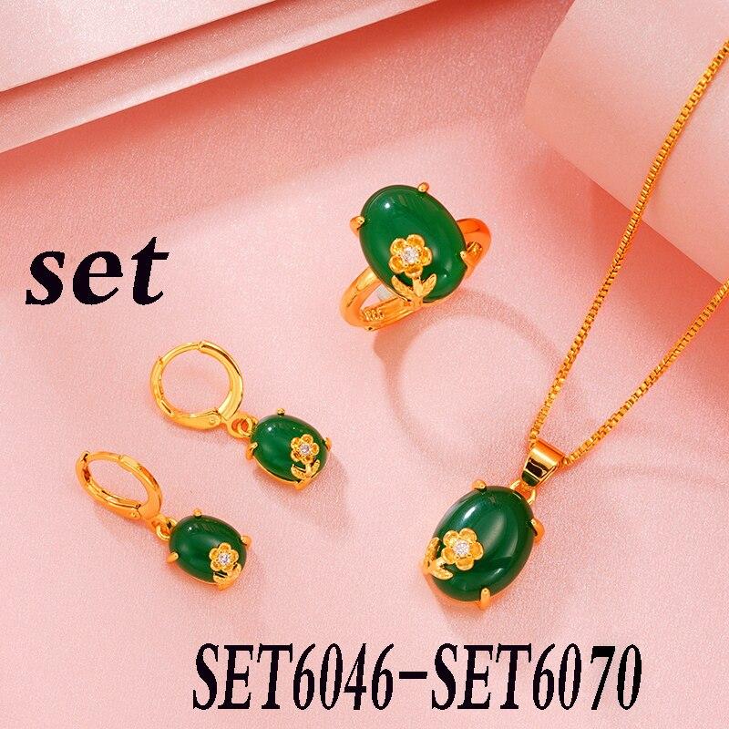 2020 جودة عالية فضة 925 موضة كلاسيكي عقد للسيدات طقم مجوهرات SET6046-SET6070
