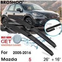 car wiper blade front window windscreen windshield wipers blades j hook auto accessories for mazda 5 2616 2005 2016