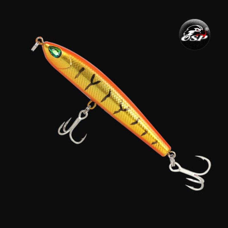 1 Uds 8m 9g modelo caliente Minnow señuelo de Pesca ojos 3D Crankbait duro cebo Wobblers para Bass aparejo de Pesca de Lucio Pesca