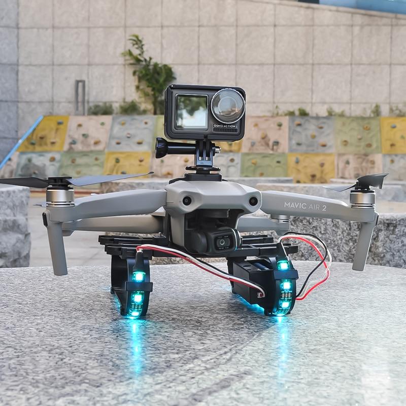 Startrc mavic الهواء 2 الاكسسوارات الملونة LED أضواء وامضة أدوات تدريب الهبوط مع محاكاة الرياضة كاميرا gopro حامل كاميرا كليب