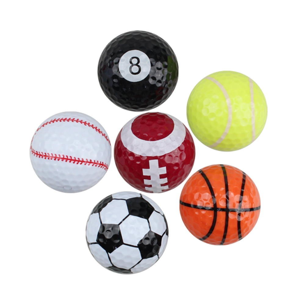 Crestgolf 1 Pcs Novelty Mini Practice Sport Color Golf Balls Distance Two Layer Supplies Gifts