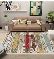 high quality bohemian big carpets for living room home decor ethnic style geometric large area rugs for bedroom parlor floor mat