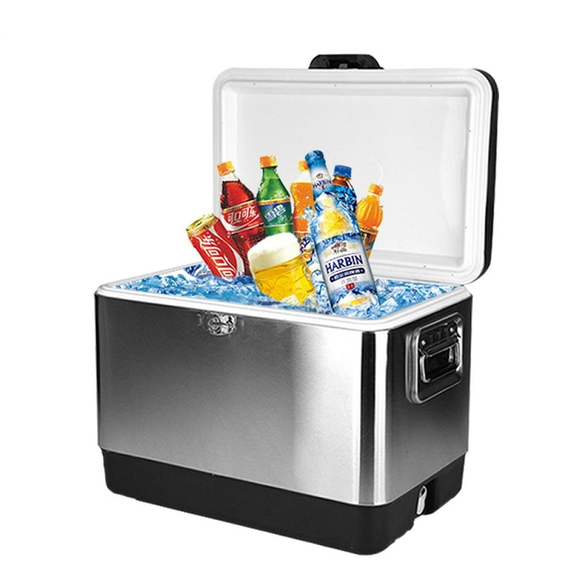 51L Home/Car Refrigerator Automoble Mini Fridge Refrigerators Freezer Cooling Box frigobar Food Fruit Storage Fridge Compressor